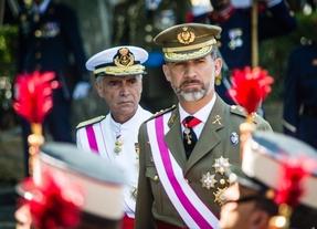 El rey Felipe VI en el homenaje a los caídos durante el Día de la Fuerzas Armadas