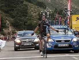Pardilla se impone en la Vuelta a Madrid al conseguir la victoria en el alto de la Morcuera
