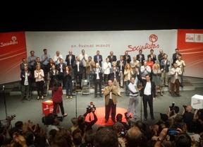 Tomás Gómez y el resto de candidatos socialistas.