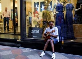 Un musico de Reggae en la calle Arenal