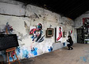 Exposición en La Neomudéjar de artistas interpretando a Goñi, cuadros de Alain Gugnenc