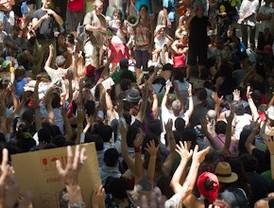 Los indignados cogen fuerzas para la marcha