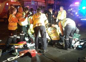 Herido muy grave tras ser atropellado por una motocicleta en Carabanchel
