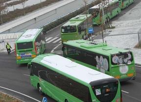 Autobuses interurbanos. Jornadas de transporte de Madridiario. Diciembre 2012.