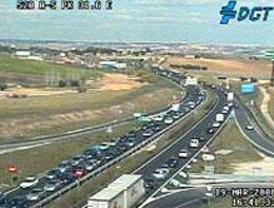 21 kilómetros de retenciones en las carreteras madrileñas por la tarde