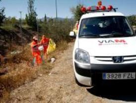 Las carreteras generan 2,5 toneladas de basura al día