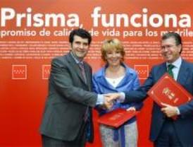 El PSM planta a Aguirre en la firma del PRISMA