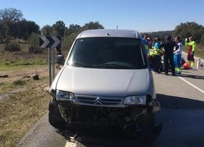 Muere un motorista en una colisión frontal en la M-521