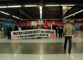 Trabajadores del metro ligero oeste en huelga