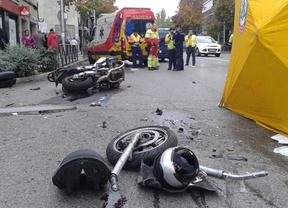 Muere un motorista de 57 años al chocar contra un camión en General Ricardos