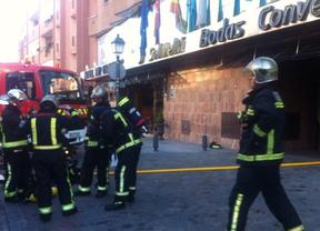 Once heridos leves en el incendio de un hotel en Leganés