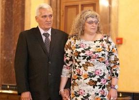 María del Mar Bermúdez y su marido durante la entrega de los premios de la Asociación Sandra Palo.