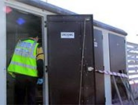 Un hombre recibe una descarga eléctrica al intentar robar cable de cobre