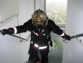 Un bombero italiano, campeón de la carrera en Torrespacio