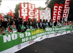 La marea verde resurge con fuerza contra la ley Wert