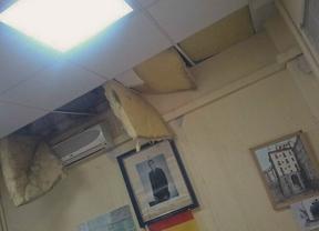 Se desprende un techo en la comisaría del distrito de Salamanca