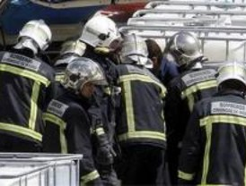 22 intoxicados en un incendio en Parla