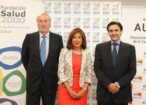 Rafael Carmena, Carmen González Madrid y Alejandro Perales (de izquierda a derecha)