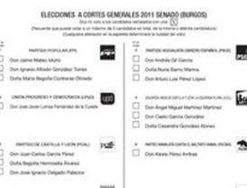 Nueva papeleta para elegir a los senadores, rediseñada para tratar de evitar el voto nulo