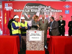 Colocada la primera piedra del Metro a Las Rosas