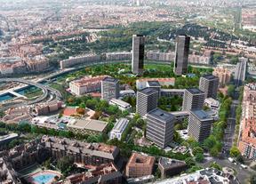 Botella 'planta' en el río dos Torres de Madrid