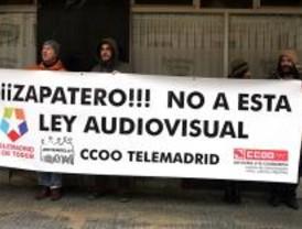 Los trabajadores de Telemadrid, contra la Ley Audiovisual
