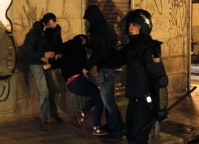 8 detenidos, 5 de ellos menores, tras la manifestación contra la 'ley mordaza'