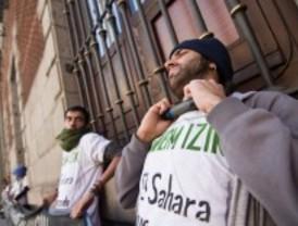 Protesta saharaui en el ministerio de Exteriores
