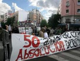 250 personas piden la absolución de nueve manifestantes