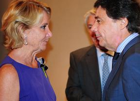 Esperanza Aguirre e Ignacio Gonzalez, con cara de enfrentados