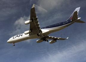 Avión apunto de aterrizar