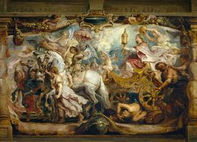 El Prado restaura 'El triunfo de la Eucaristía' de Rubens