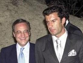 Laporta y Figo critican el gasto del Madrid