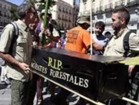 Los agentes forestales se manifiestan contra su pérdida de competencias