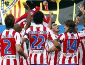 El Atlético se impone sin brillo ante el Getafe en el primer derbi de la temporada