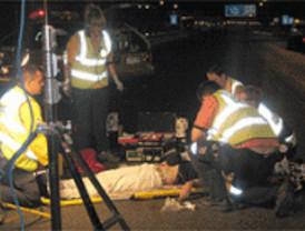 Dos heridos graves tras chocar una moto con un turismo en O'Donnell