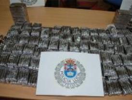 Incautados 15 kilos de hachís en un control policial en Leganés