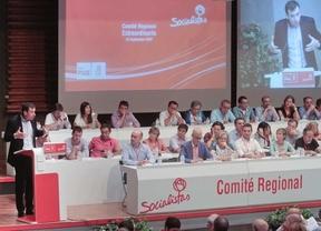 Tomás Goméz interviene en el Comité regional del PSM.