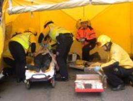 Un portero herido grave en un incendio en el barrio de Salamanca