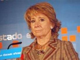 Aguirre afirma que el PP no suscitará la modificación del estatuto de la Comunidad de Madrid