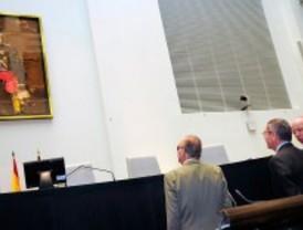 El rey inaugura su retrato en Cibeles