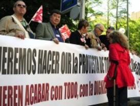 Los pensionistas, en pie de guerra