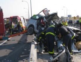 Una joven muere en la M-45 por un accidente