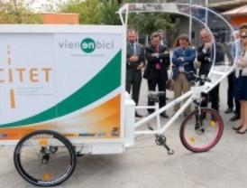 Un triciclo eléctrico para repartir mercancías