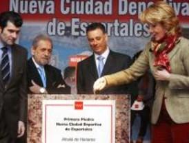Colocada la primera piedra de la Ciudad Deportiva de Espartales de Alcalá de Henares