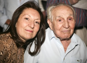 Pedro Peña y su hija en una de sus últimas apariciones en público