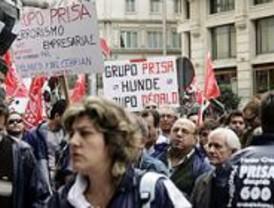 Centenares de trabajadores del grupo Dédalo se manifestaron contra sus despidos