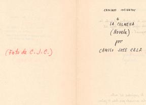 Donan un nuevo manuscrito de 'La Colmena' a la Biblioteca Nacional