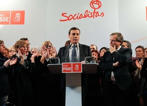 Tomás Gómez, en la rueda de prensa tras la destitución por parte de la ejecutiva federal