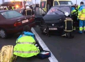 Fallece una mujer tras un choque múltiple en la M-50